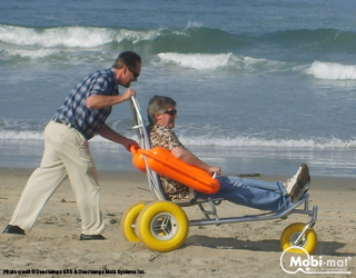 Floating Beach Wheelchair Mobi Chair 174 By Dms Inc
